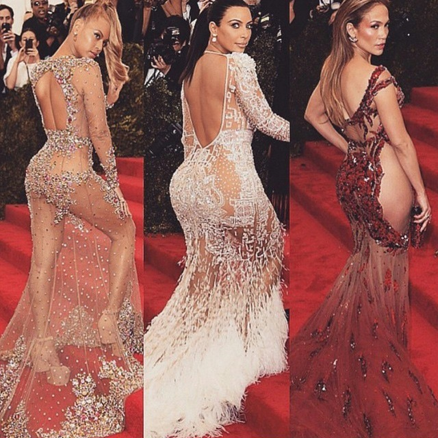 Beyonce Kim-Kardashian Jennifer-Lopez on-the-red-carpet-at-Met-Gala-2015
