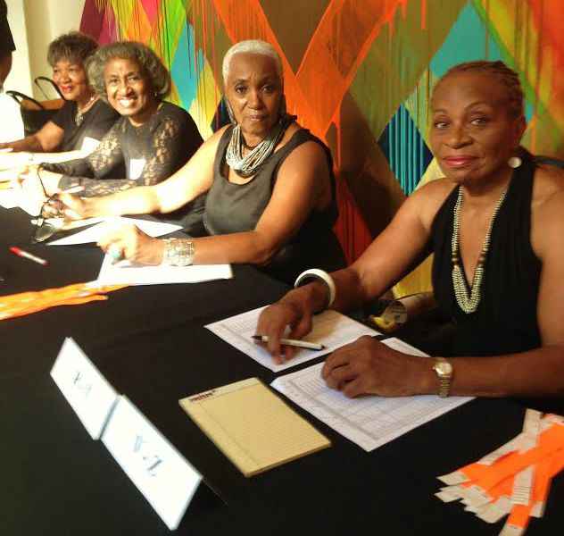 Harlem Book Fair Images Phillis Wheatley Awards Ladies at Registration Table 2015