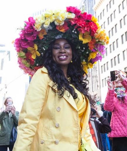 Marie Pierre-at-Easter-Parade-on-NYC-Fifth-Avenue Derrick-Davis The-Root