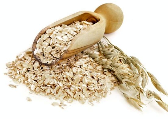 Oatmeal is more than food product soothing and anti-inflammatory substance for skin