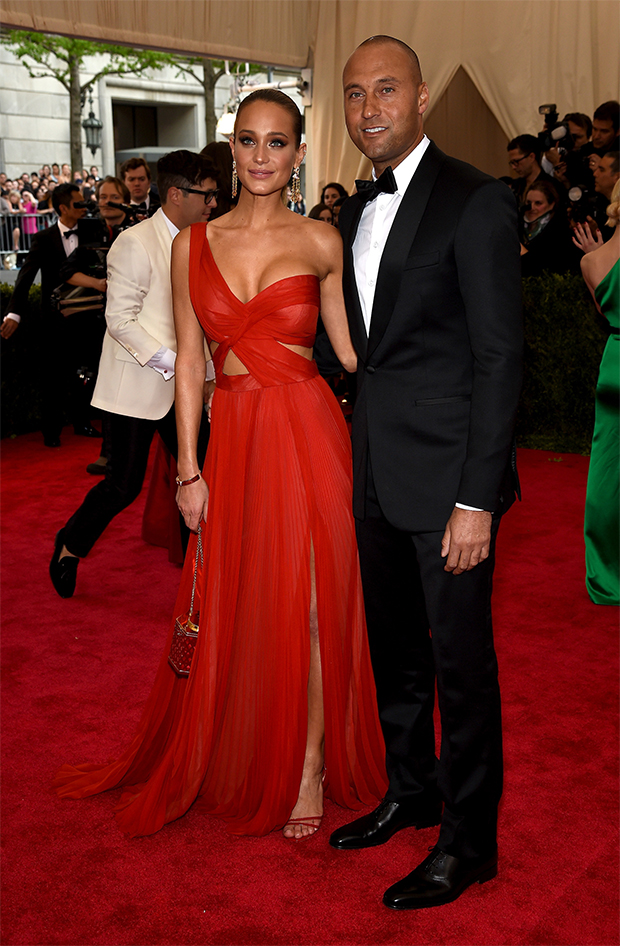 derek-jeter-rag-bone- girlfriend met-gala-2015
