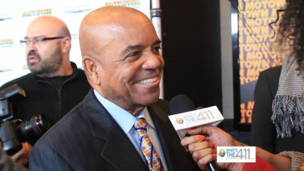 Motown Records founder, Berry Gordy, talking with What's The 411TV producer, Ruth J. Morrison