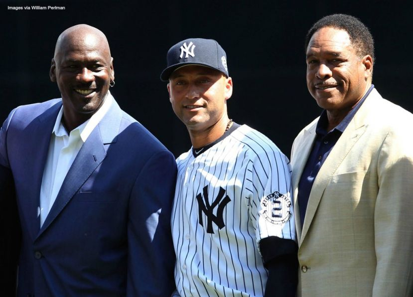 Michael Jordan, Derek Jeter, and Dave Winfield