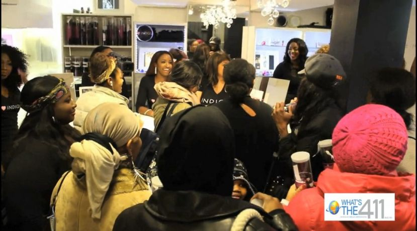 Crowd on hand for Indique Hair's Mystere Curl and Perfect 10 Collection