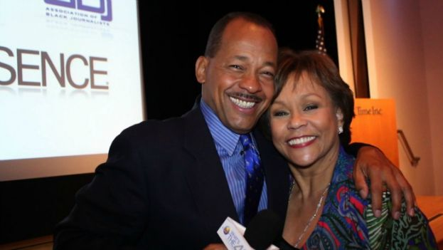 What's The 411TV correspondent Andrew Rosario with former WNBC-TV news anchor Sue Simmons