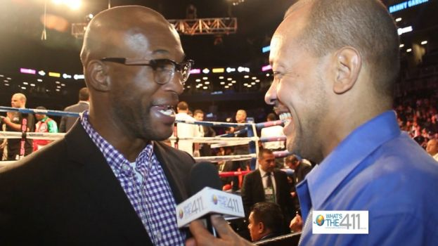 Professional boxer Bernard Hopkins talking with What's The 411 reporter Andrew Rosario