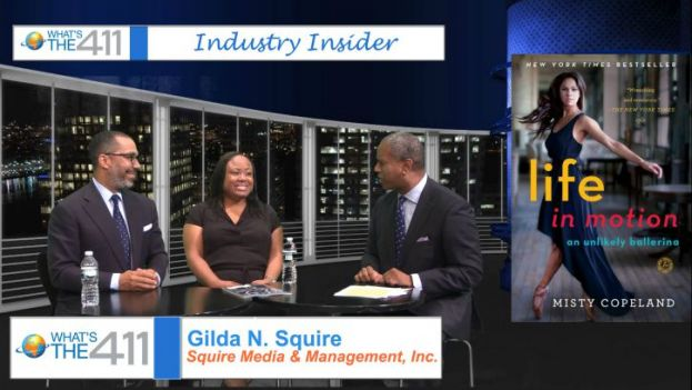 Valentino Carlotti, Head, Securities Division, Institutional Clients Group; Gilda N. Squire, Squire Media and Management; and What's The 411TV host, Glenn Gilliam