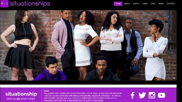 The cast of the new, hot web series, Situationships