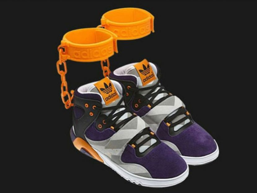 Adidas planned to sell these sneakers dubbed shackles that invoke an image of slavery