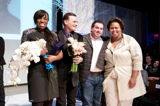 EMERGE! Fashion Runway show (left to right) Mikki Taylor, Phillip Bloch, Adam Leffel, and Emerge founder Dionne Williams