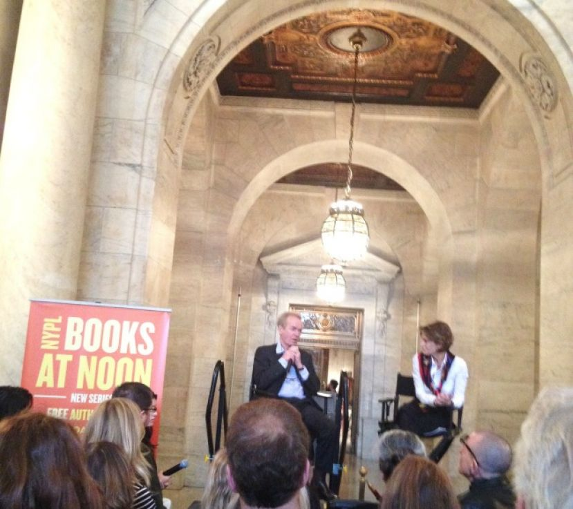 Author Martin Amis discussing his latest novel, The Zone of Interest, with New York Public Library's Jessica Strand