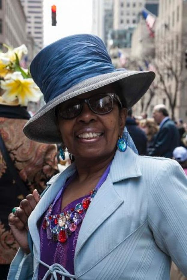 What's The 411 Book Editor, Luvon Roberson, at the Easter Parade on Fifth Avenue in New York City