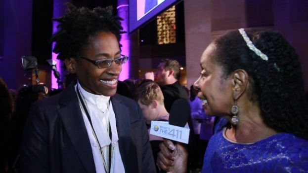 What's The 411TV Book Editor, Luvon Roberson talking with award-winning author Jacqueline Woodson at the 2014 National Book Awards