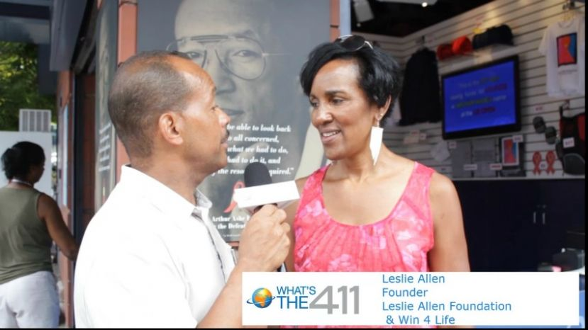 Leslie Allen, former professional tennis player and Founder, Win 4 Life and the Leslie Allen Foundation