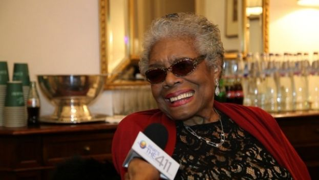 Dr. Maya Angelou giving an exclusive interview to What's The 411 correspondent, Kizzy Cox