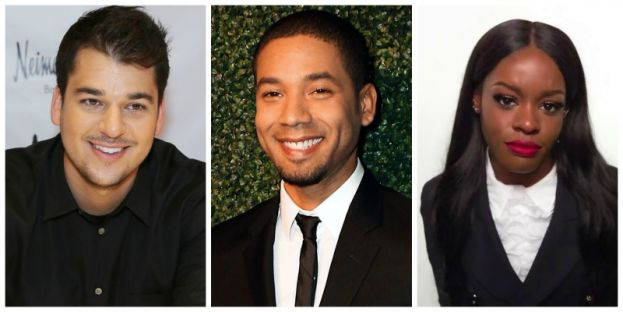 Photo from left to right: Rob Kardashian, actor Jussie Smollett, and rapper Azealia Banks
