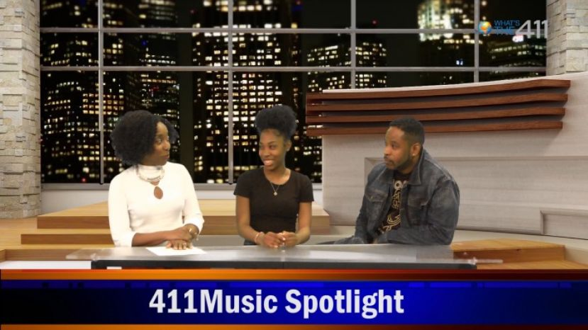 What's The 411 host, Kizzy Cox, interviewing teen sensation Haley Smith and Chas Bronxson