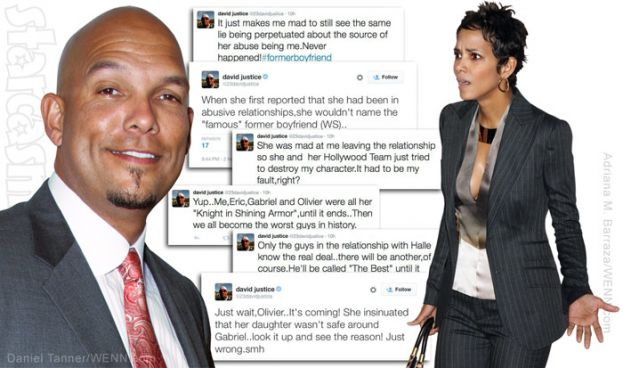Compilation of David Justice's Twitter rant against his ex-wife, actress Halle Berry
