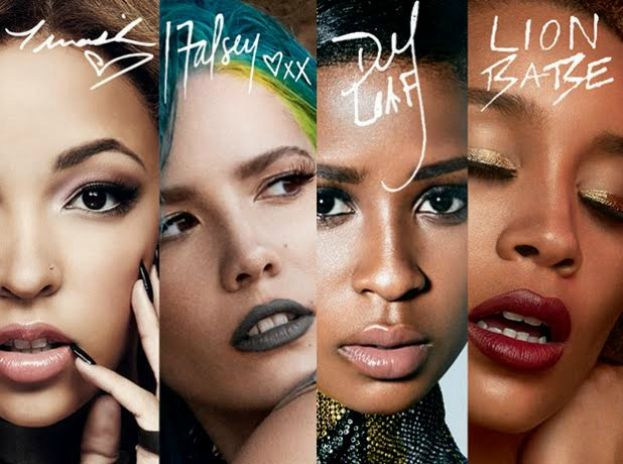 MAC Cosmetics Future Forward models: Tinashe, Halsey, Dej Loaf, and Lion Babe