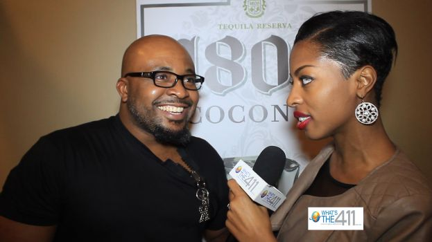 What's The 411 reporter, Crystal Lynn, talking with fashion designer Okey Onugha