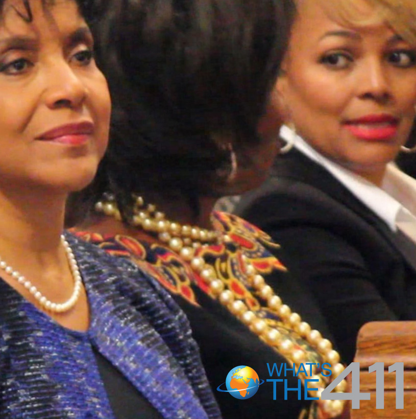 Phylicia Rashad and Kim Fields at Ruby Dee's Memorial Service