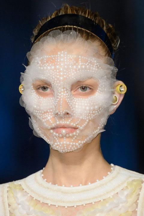 Beauty Face embellished with pearls