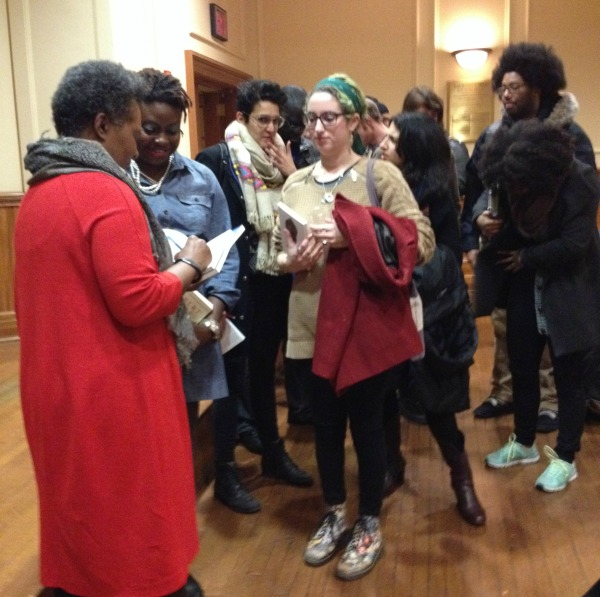 Claudia-Rankine-signing-books Writers-at-Barnard-series Photo Luvon-Roberson 600x597
