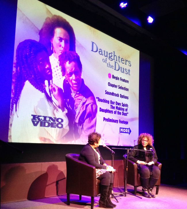 Daughters-of-the-Dust-Director-Julie-Dash-being-interviewed-by-Michelle-Materre-at-Harlem-MIST 650x726
