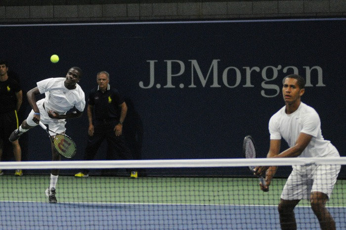 Francis-Tiafoe Michael-Mmoh 2014-US-OPEN Doubles-Debut Mike-Lawrence USopen-org 700x467