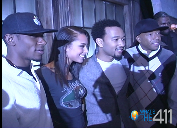 Mos Def Alicia Keys John Legend Russell Simmons with 411 logo