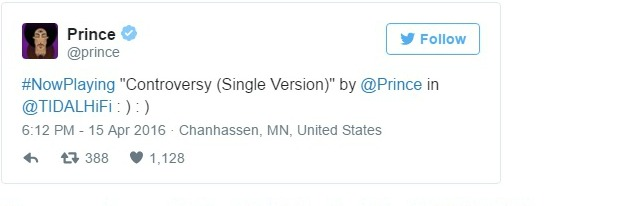 Prince Tweet About his illness on 04152016 cropped