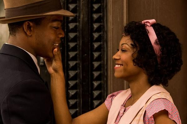 Stephen James as Jesse Owens and Shanice Banton as his wife Ruth Owens