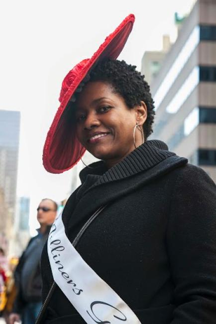 lisa-mcfadden-at-Easter-Parade-on-NYC-Fifth-Avenue Derrick-Davis The-Root