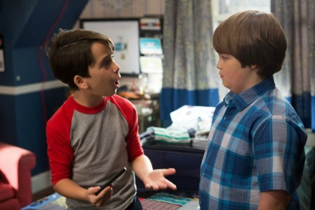 "Jason Drucker (Greg Heffley aka Wimpy Kid), left, and Owen Asztalos (Greg's best friend) in the movie, ""Diary of a Wimpy Kid: The Long Haul."""