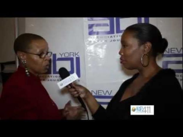Terrie Williams, president of the Terrie Williams Agency, talking with What's The 411 correspondent Barbara Bullard