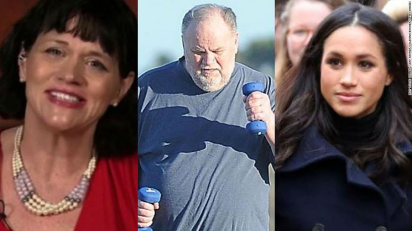 Photo (left to right) Samantha Grant, Thomas Markle, and Meghan Markle