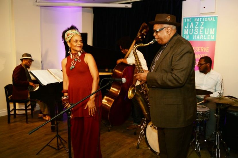 Marc Cary's band performing.  Band incudes celebrated pianist Marc Cary (Betty Carter, Roy Hargrove, Dizzy Gillespie); vocalist, Terri Davis; tenor saxophonist, Bill Saxton; drummer, Russell Carter; and bassist, Rahsaan Carter