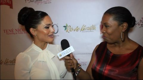 Celebrity Make-up Artist Priscilla DiStasio talking with What's The 411TV correspondent Barbara Bullard