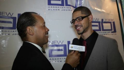 NYABJ President Michael J. Feeney talking with What's The 411TV host Andrew Rosario