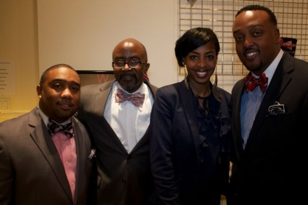 Crystal Lynn Interviews Alfred Edmond Jr. (2nd from left) and the Founders of Windsor Neckwear