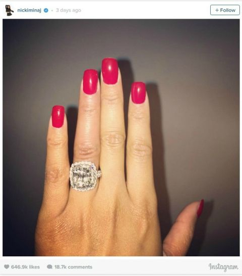Nicki Minaj engagement ring