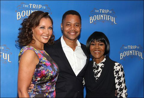 The primary cast members of The Trip to Bountiful, Grammy-nominated singer, Vanessa Williams; Academy Award-winning actor, Cuba Gooding Jr.; and Tony Award-winning actress, Cicely Tyson