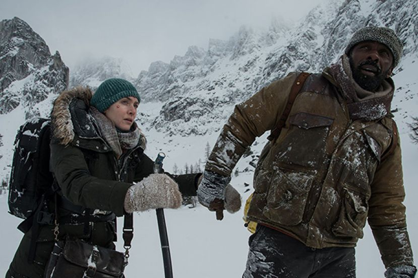 Kate Winslet (left) and Idris Elba in the movie, The Mountain Between Us