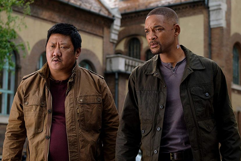 Benedict Wong (l) and Will Smith (r), actors in the movie, Gemini Man