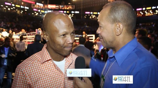 Professional boxer Zab Judah talking with What's The 411's Andrew Rosario