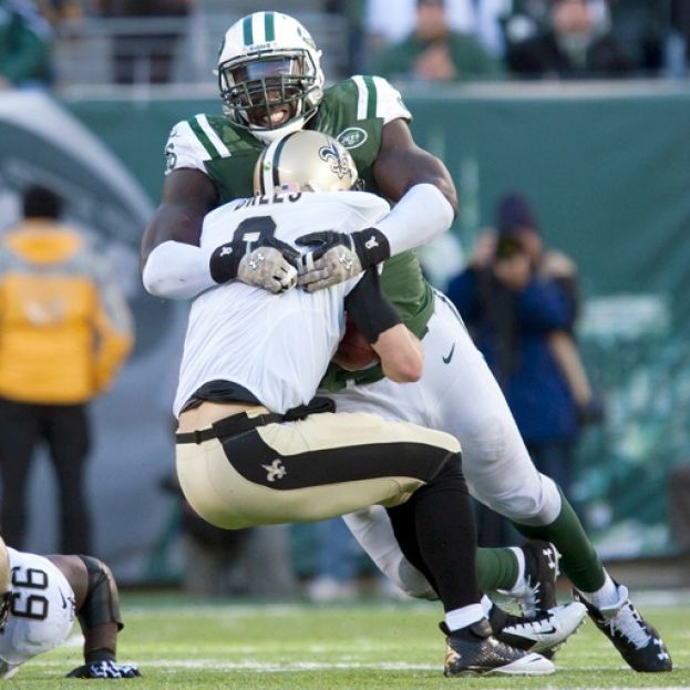 The Jets defensive line put the clamps on the high powered Saints offense.