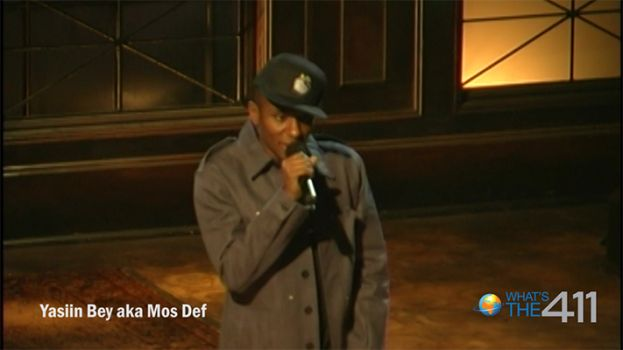 Actor and hip-hop artist, Mos Def, during a sound check for Russell Simmons Presents Def Poetry