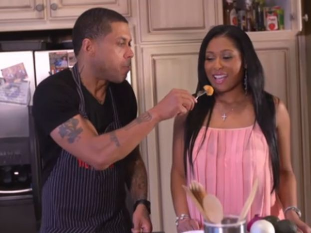 Rapper Benzino and Althea in happier times