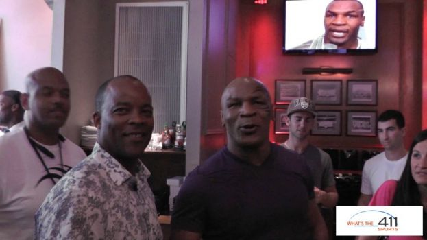 Reporter and Author George Willis and Mike Tyson