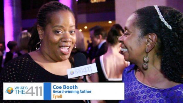 Award-winning author Coe Booth talking with What's The 411TV Book Editor, Luvon Roberson